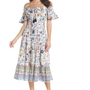 Tory Burch Meadow Folly Off the Shoulder Dress